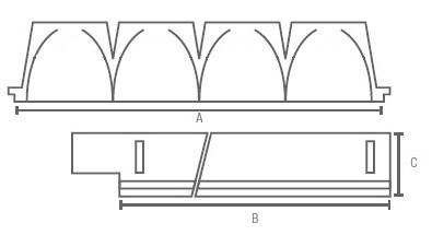 GA-LPV-AL-LED Line-medidas