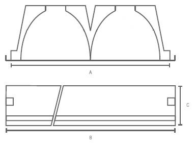 GA-LPV-LC2-LED Line medidas