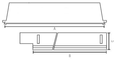 GA-LPV-PR-LED Line medidas