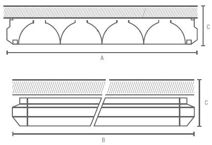 GA-SCR-AL-LED Line medidas