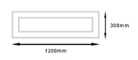 Panel Empotrar GA/LED-EPANEL 48W 300x1200_Medidas