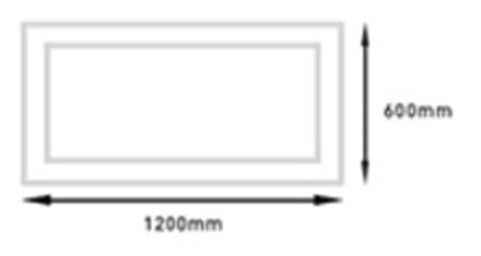 Panel Empotrar GA/LED-EPANEL 72W 600x1200_Medidas