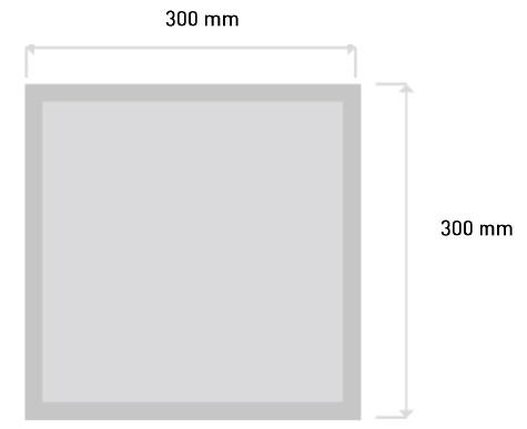 Panel Empotrar GA/LED-EPANEL 18W 300x300_Medidas
