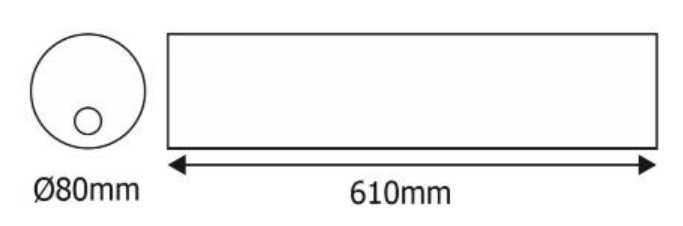 Luminaria estanca GA/TUBULAR-LED