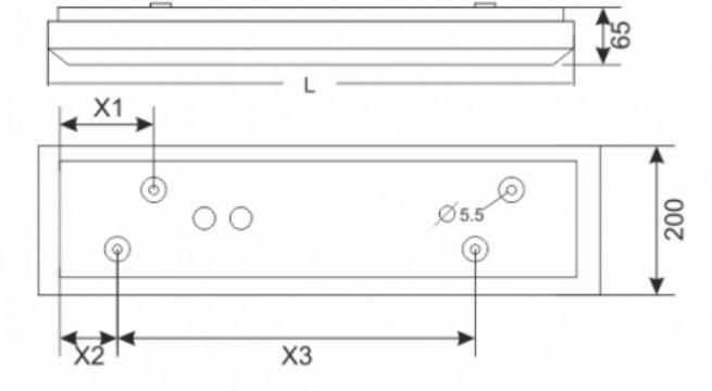 Pantalla superficie GA-SEA PRISMA LED_medidas