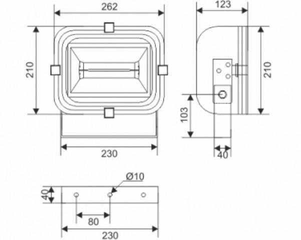 Proyector estanco GA/SEA AEGEAN 1_medidas