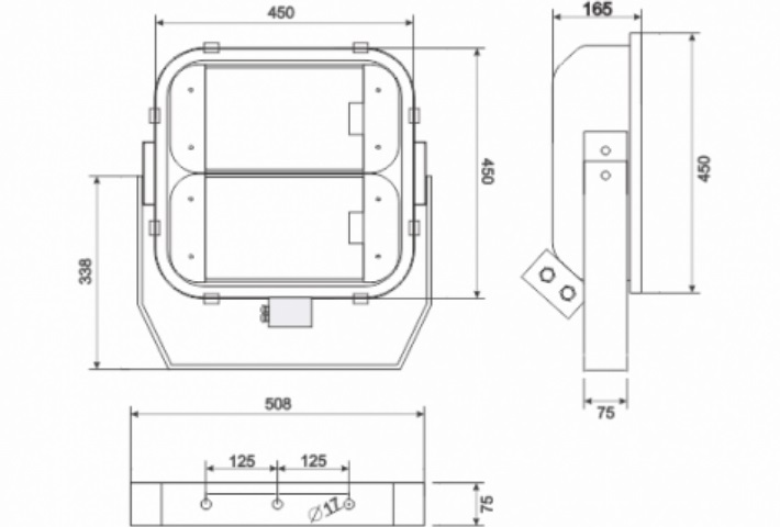 Proyector estanco GA/SEA AEGEAN 3_medidas