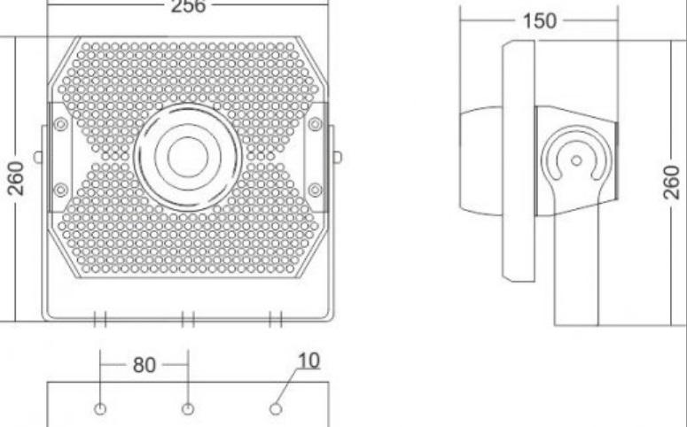 Proyector estanco GA/SEA APOLLO 50 LED_medidas
