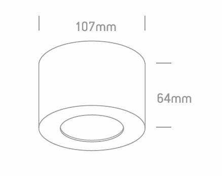 Downlight superficie GA/SEA-IONIS LED_medidas