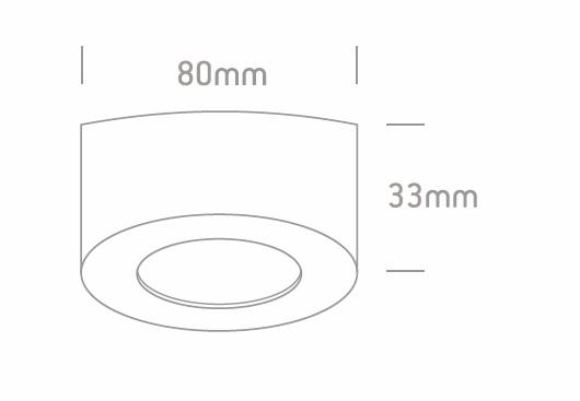 Downlight superficie GA/SEA-IRIS LED_medidas